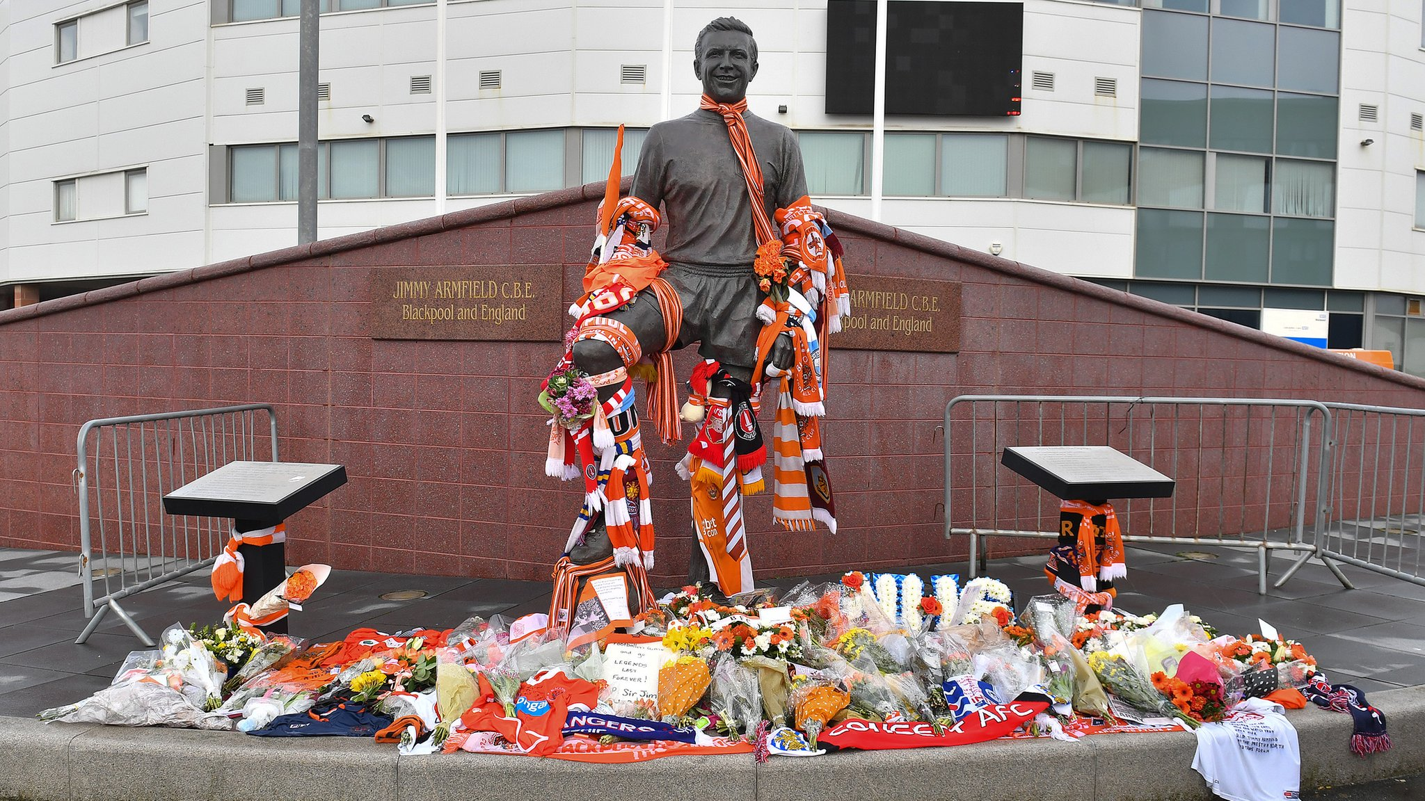 Blackpool match postponed as football pays tribute to Armfield