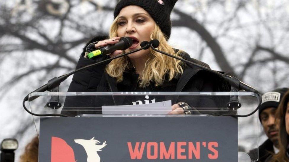 Madonna en el National Mall