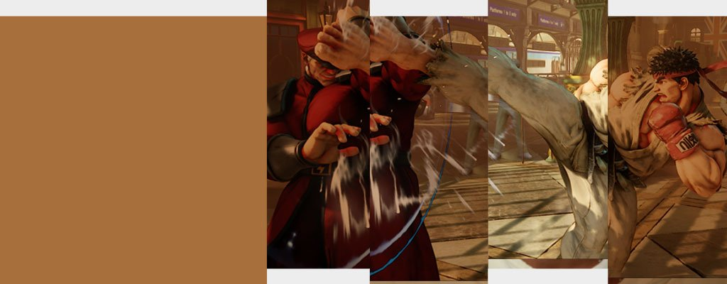 Street Fighter V game play - Ryu kicks M Bison