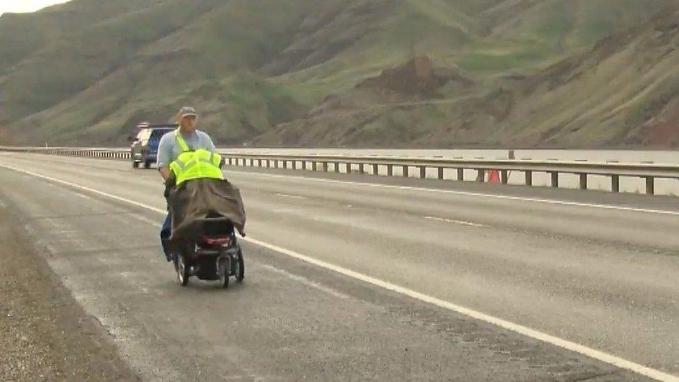 Army veteran treks across US to fight PTSD