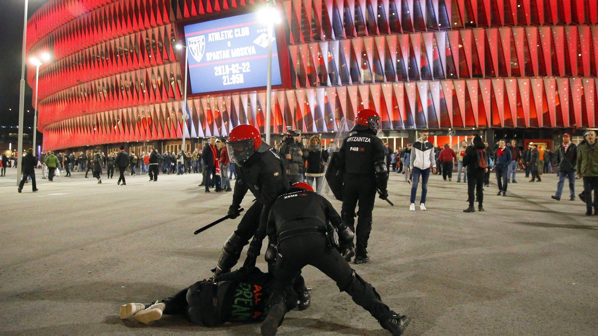Police officer dies in Bilbao v Spartak clashes