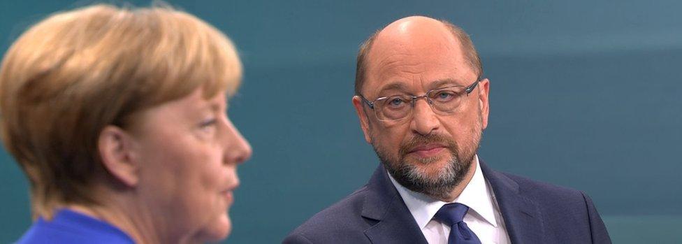 默克爾舒爾茨電視辯論