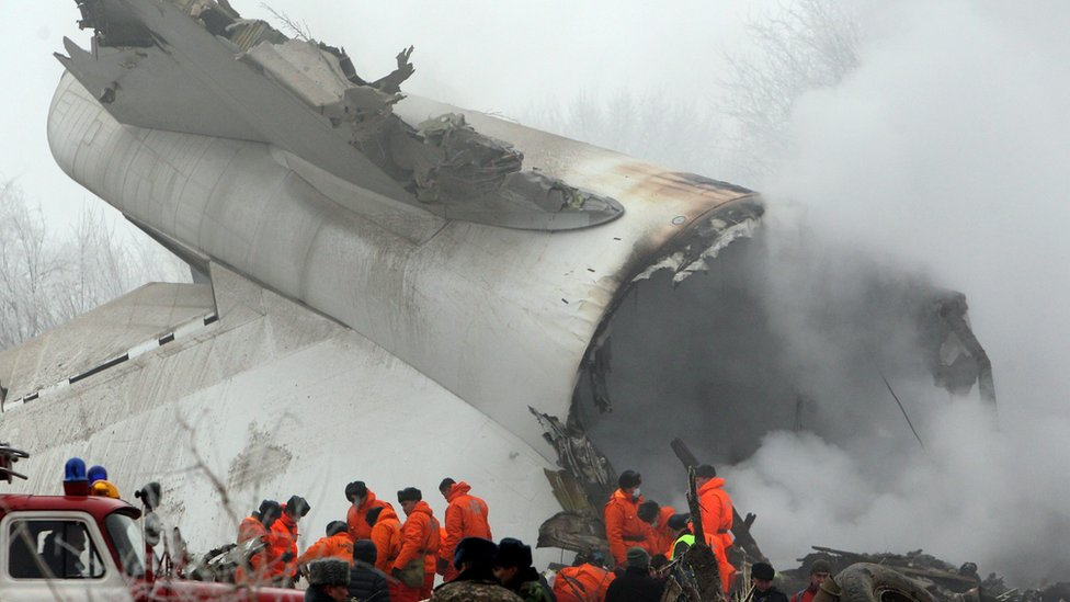 Kyrgyzstan plane crash: It crashed 'on top of the village'
