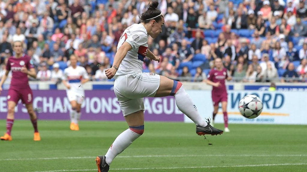 Women's Champions League: Lucy Bronze scores 'wonderful' volley for Lyon against Manchester City