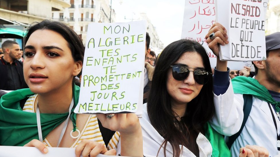 Young Algerians on the man in power for their entire lives
