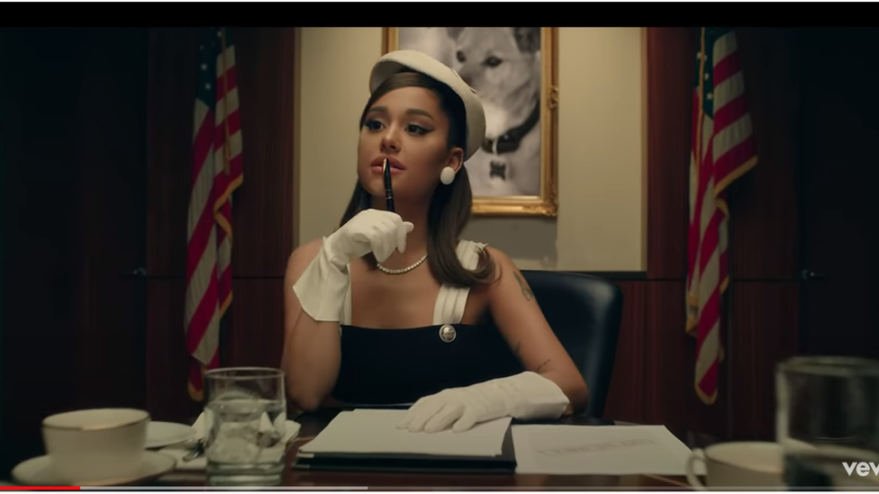 Grab from Ariana Grande Positions music video