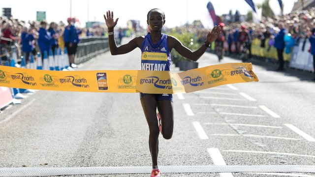 Mary Keitany, Great North Run, 2014