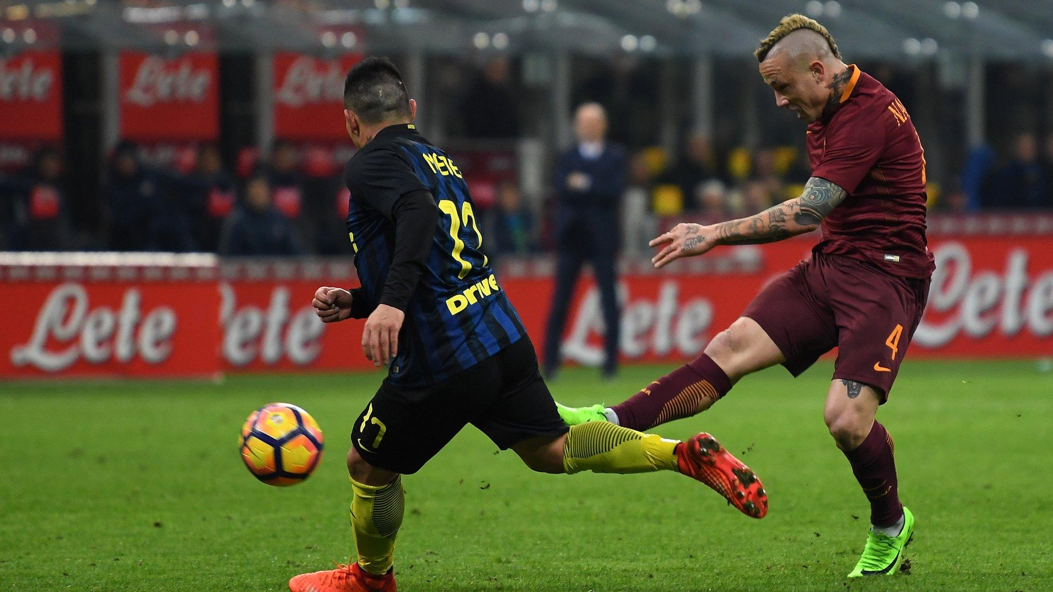 Nainggolan stunners give Roma victory at Inter