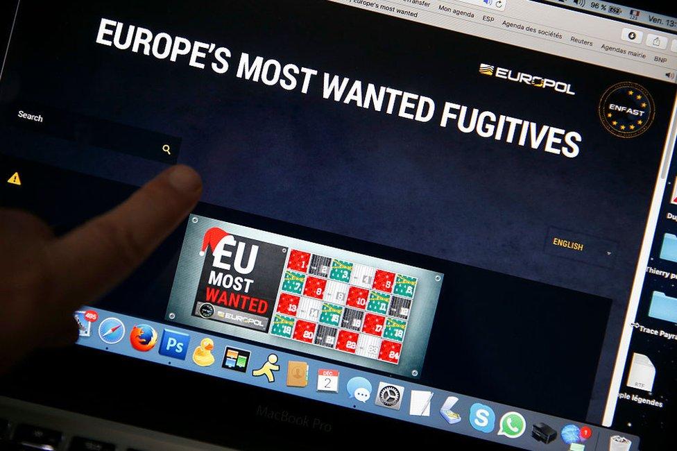 Los fugitivos más buscados de Europa según Europol