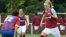 Stacey Little, playing for West Ham Ladies