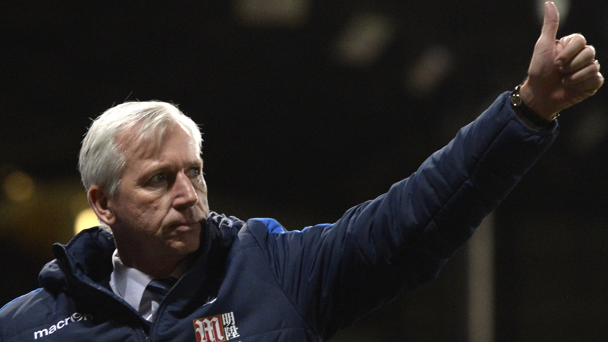 Pardew thanks Palace chairman Parish for support