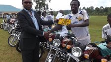 URA FC players' 'boda boda' bikes