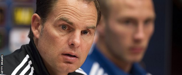 Ajax manager Frank de Boer is well versed in Ajax's approach to developing their own young players