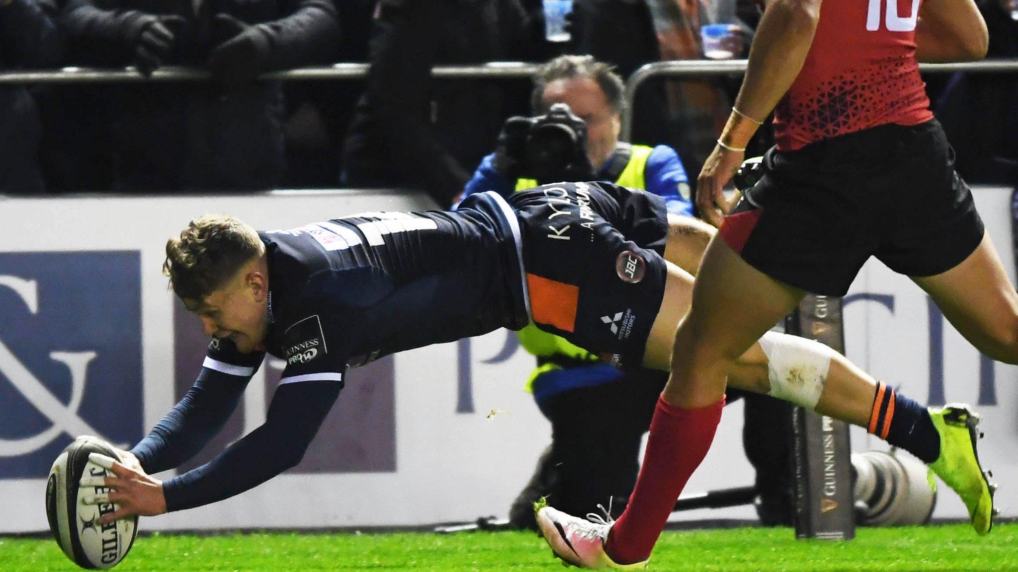 Pro14: Edinburgh 38-0 Southern Kings - Hosts score six tries to move second