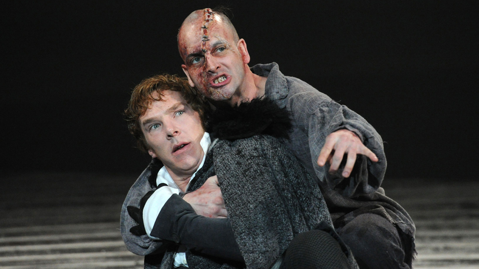 Benedict Cumberbatch and Johnny Lee Miller in the 2011 National Theatre production of Frankenstein