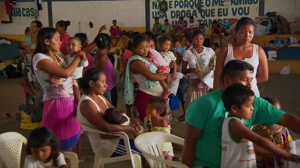 Thousands of Venezuelans are leaving their homes to seek asylum in Brazil