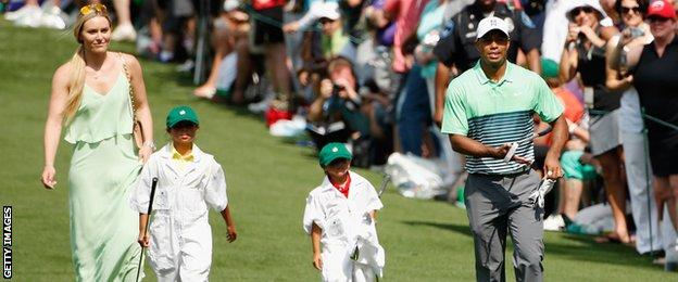 Lindsey Vonn, Tiger Woods, and the golfer's children