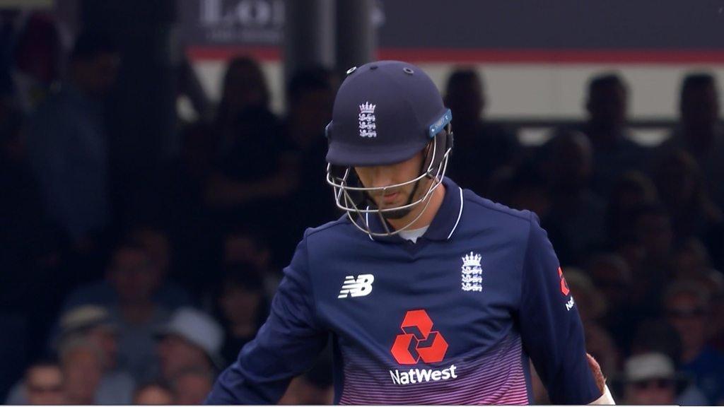 England v South Africa: Steven Finn is caught as England slump to 153