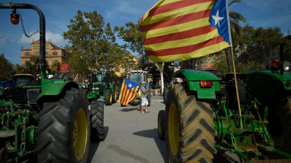 Protesta a favor de la independencia de Cataluña