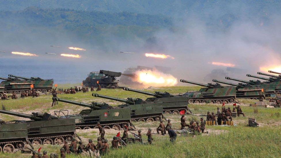 Exerc�cios militares norte-coreanos