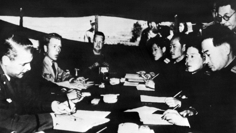 El armisticio que puso fin a las hostilidades en Corea prohibía la instalación de armas nucleares en toda la península.