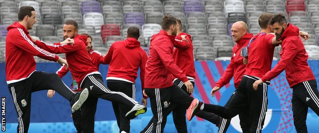 Wales training picture