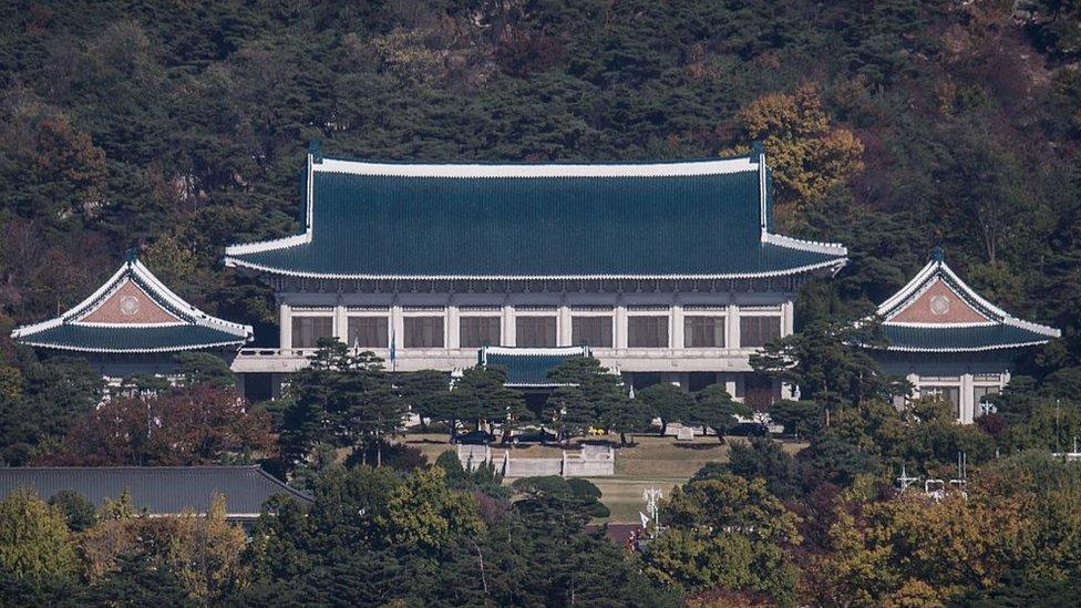 Vista de la Casa Azul presidencial de Corea del Sur