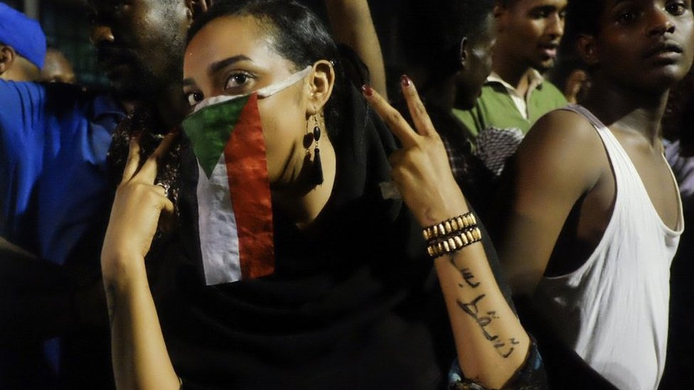 Sudan protests in pictures: 'We are here for the night shift'