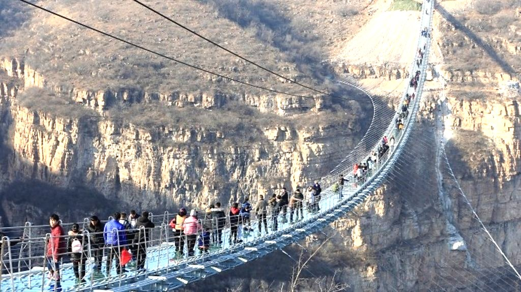 World's longest glass bridge visited by thousands daily