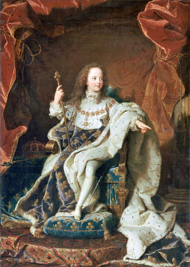 En ese entonces, Luis XV era todavía un niño.