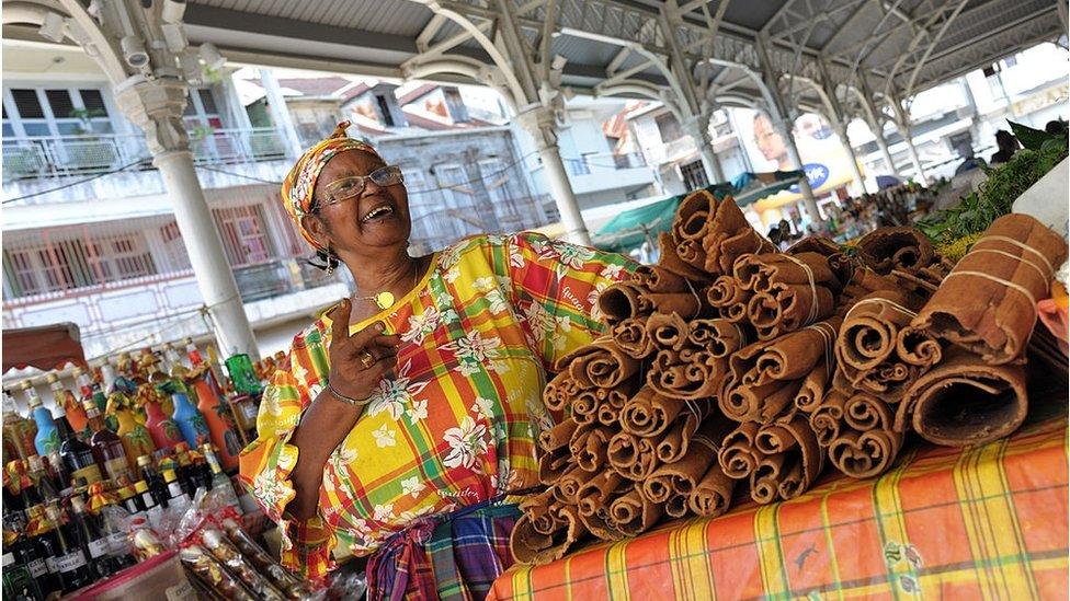 Saint-Antoine market in Pointe-a-Pitre, Guadeloupe