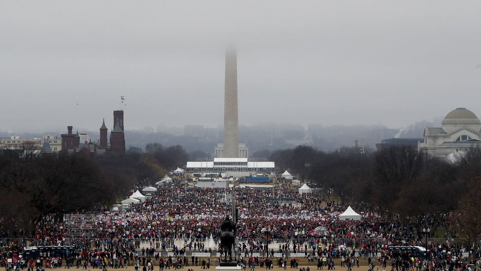 Protesta de Womens March en Washington D.C.