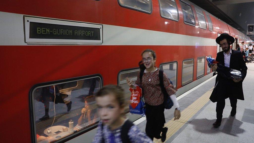 On board the new Jerusalem-Tel Aviv fast train