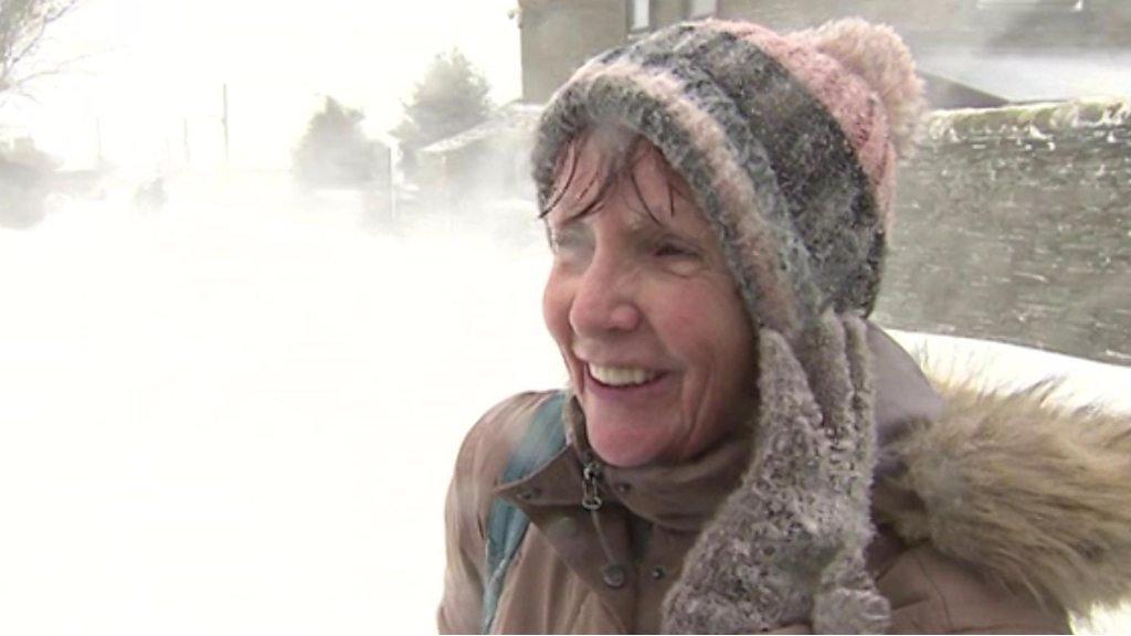 UK Snow: Carer, 70, in freezing five-mile walk home in Bradford