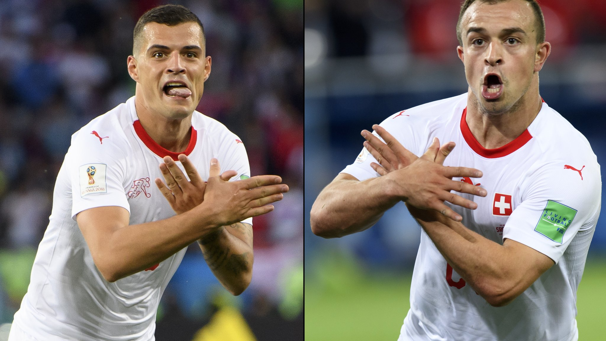 Switzerland duo facing bans over 'eagle' celebrations