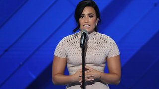 Demi Lovato talks mental health at the DNC