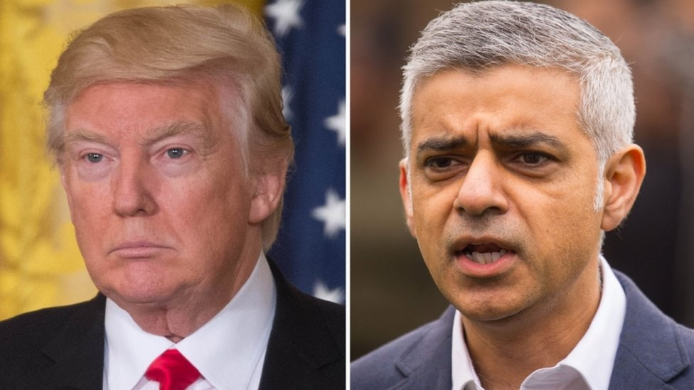 Trump hits out again at Khan over London violence