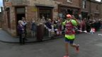 Mark Vaz ends his 53rd marathon at the Black Country Living Museum