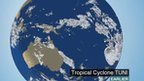 BBC Weather satellite of Tropical Cyclone Tuni