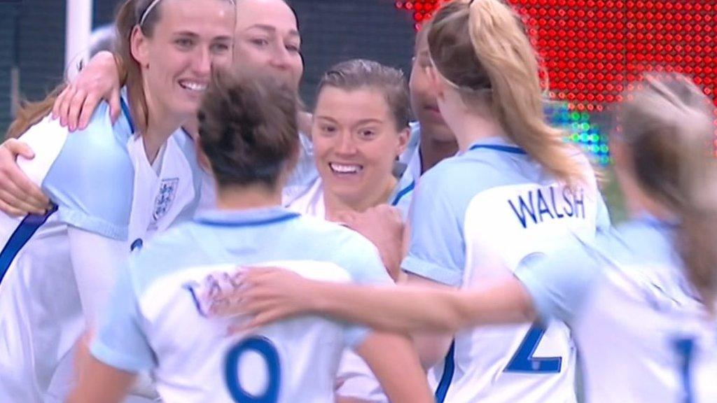 England v France: Fran Kirby adds a fourth for England