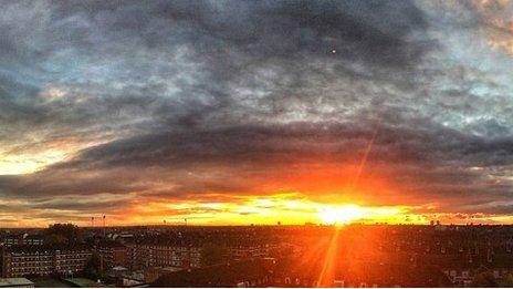White City sunset, November 2014