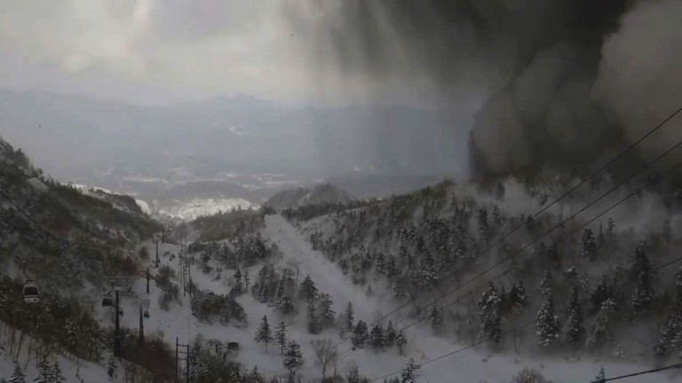 Avalanche kills one in Japan ski resort after volcanic eruption