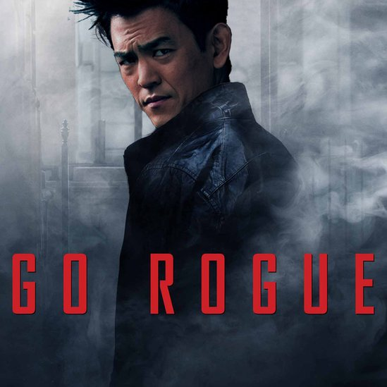 John Cho as the lead character in Mission Impossible Rouge Nation movie poster