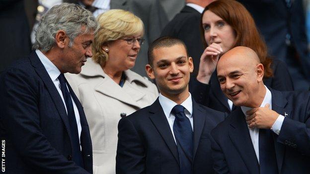 Franco Baldini with Tottenham chairman Daniel Levy