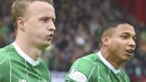 Celtic scorer Leigh Griffiths and Emilio Izaguirre