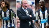 Steve McClaren, Moussa Sissoko and Fabricio Coloccini