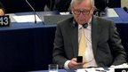 Jean-Claude Juncker with mobile phone