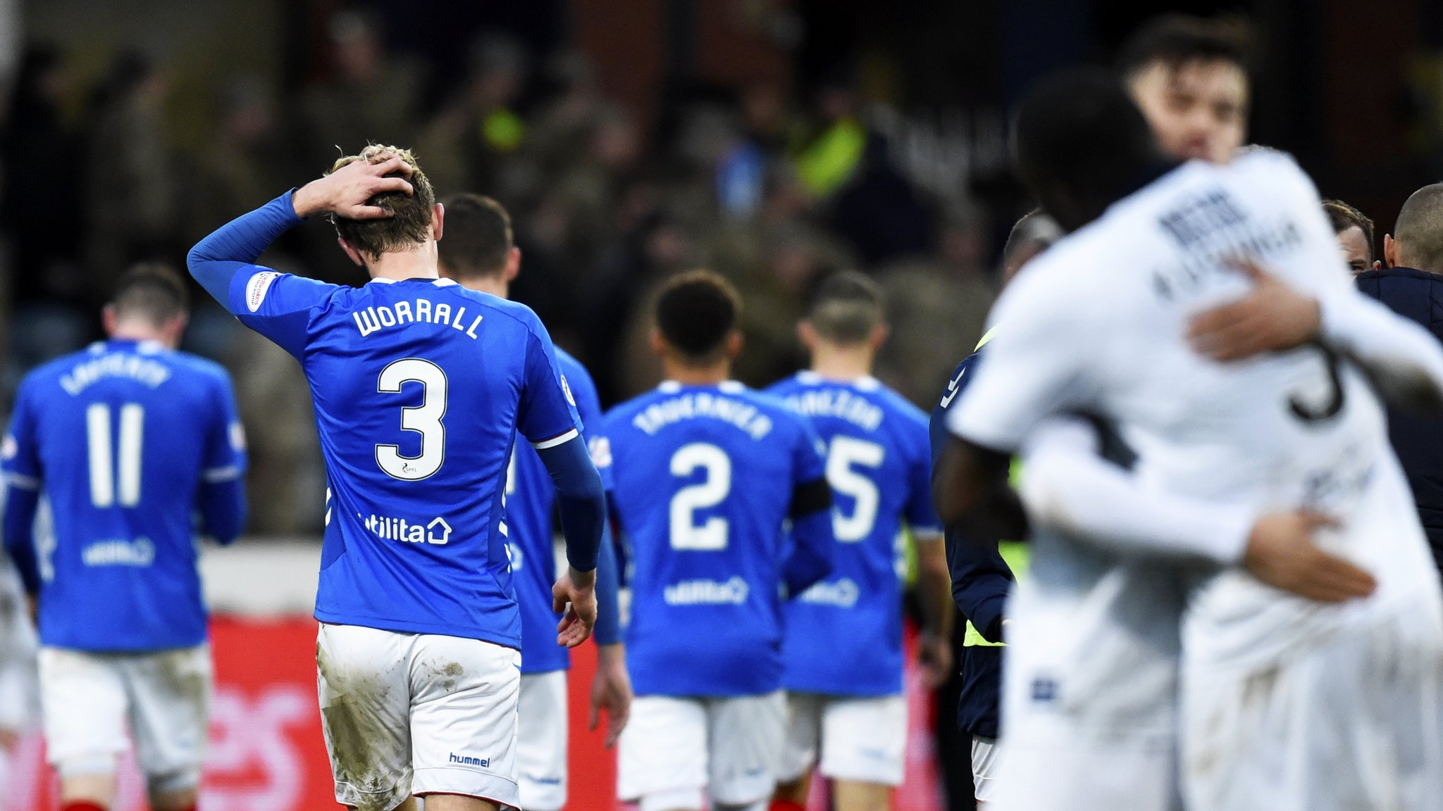Dundee 1-1 Rangers: Steven Gerrard's side held by ten men at Dens