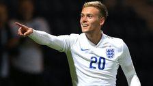 James Wilson celebrates his goal
