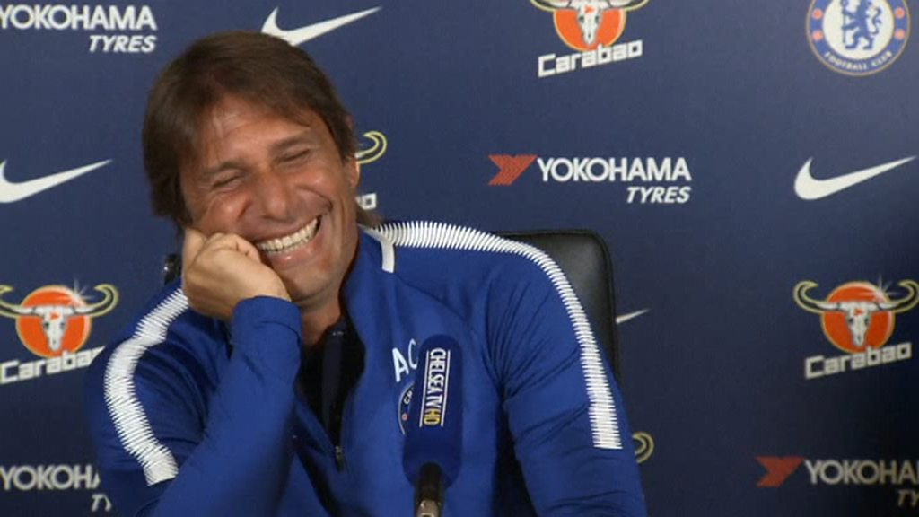 Chelsea: Question about Diego Costa has Antonio Conte in stitches